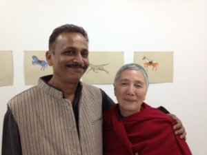 Ajay sharma with Francine Haywood