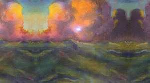 Sea in Paint - Red sky, Green sea_CRogers copy
