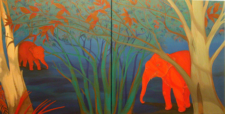 Phaptawan Suwannakudt, Elephant and the Bush, 2003. Image courtesy of the artist.