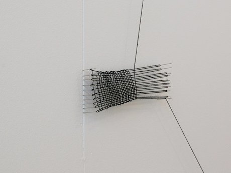 Gillian Lavery, In Progress, Always, 2015, threads and pins, dimensions variable. Image courtesy of the artist.